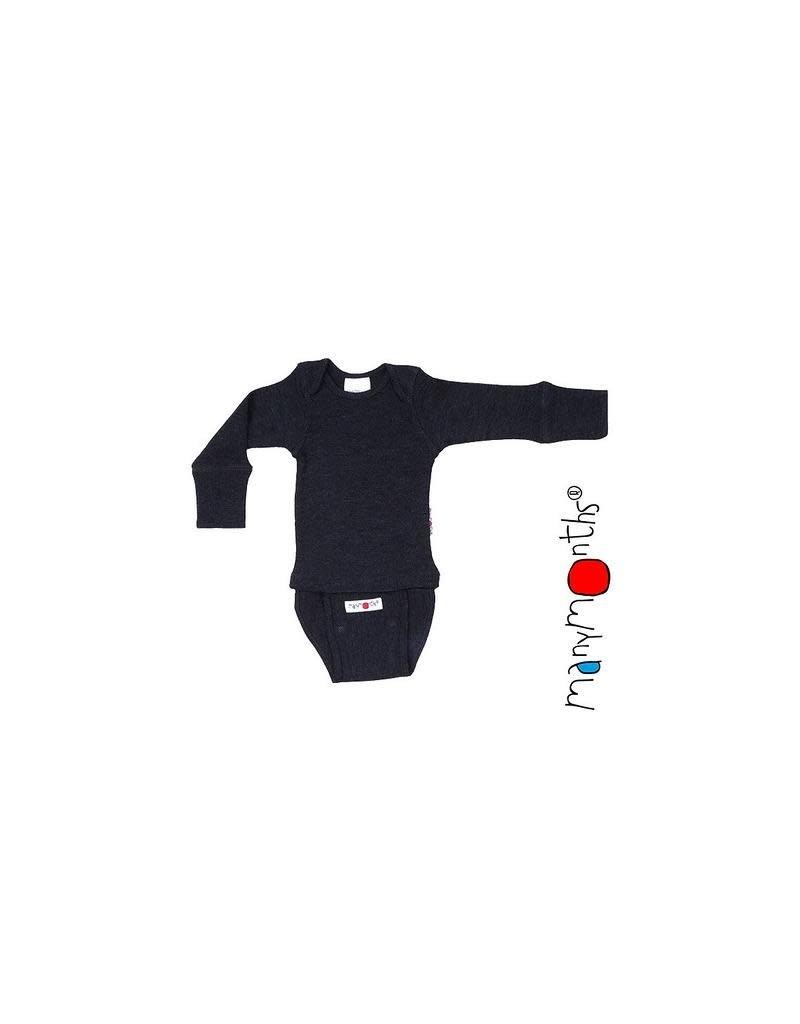 ManyMonths ManyMonths - Body/Shirt Long Sleeve, Foggy Black (0-2j)