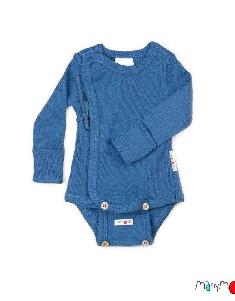 ManyMonths ManyMonths - Kimono Body/Shirt with Foldover Sleeves, Cosmos Blue (0-2j)