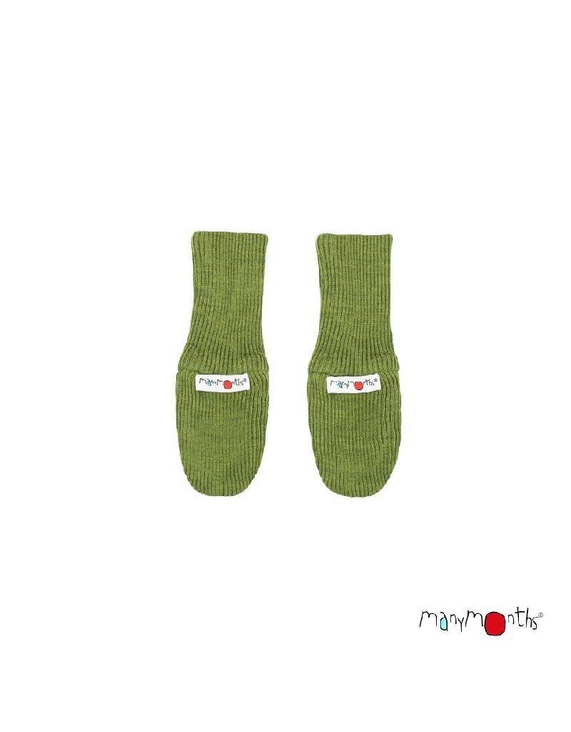 ManyMonths ManyMonths - Long Cuff Mittens, Garden Moss Green (0-2j)