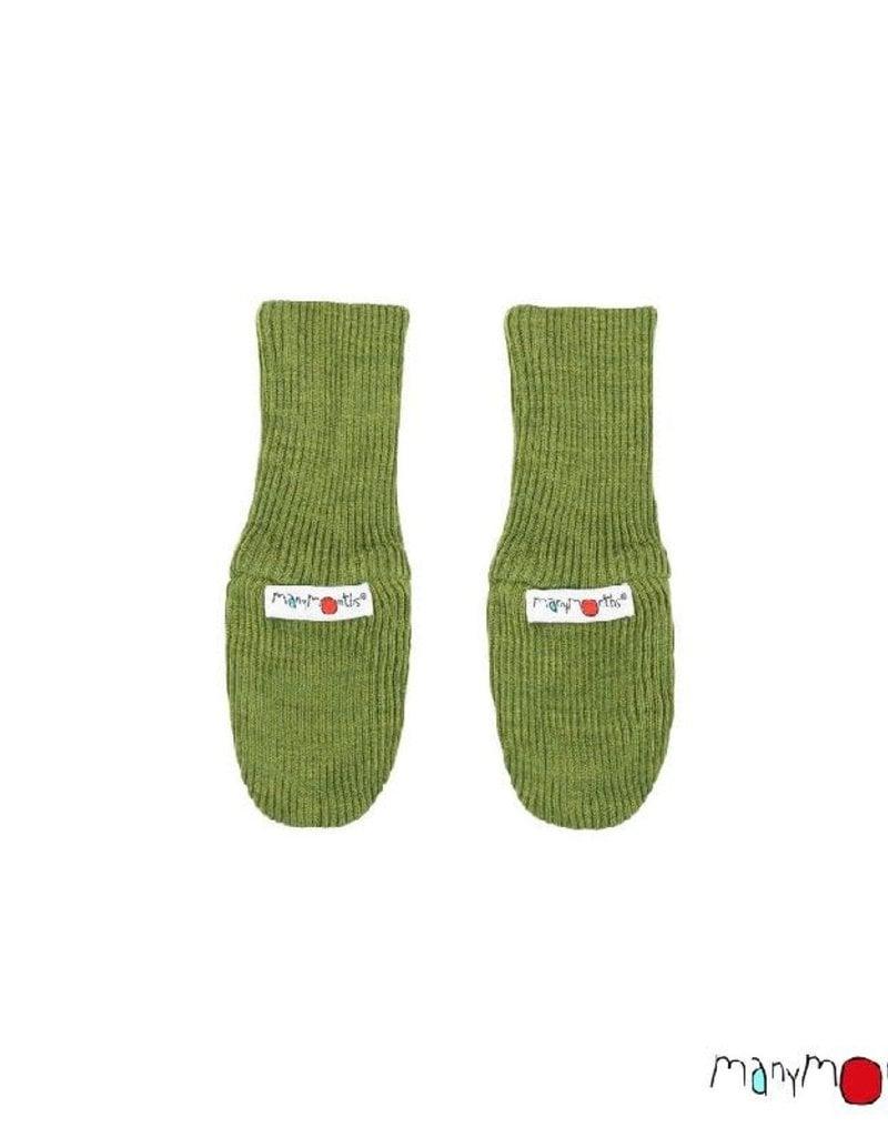 ManyMonths ManyMonths - Long Cuff Mittens, Garden Moss Green (3-16j)