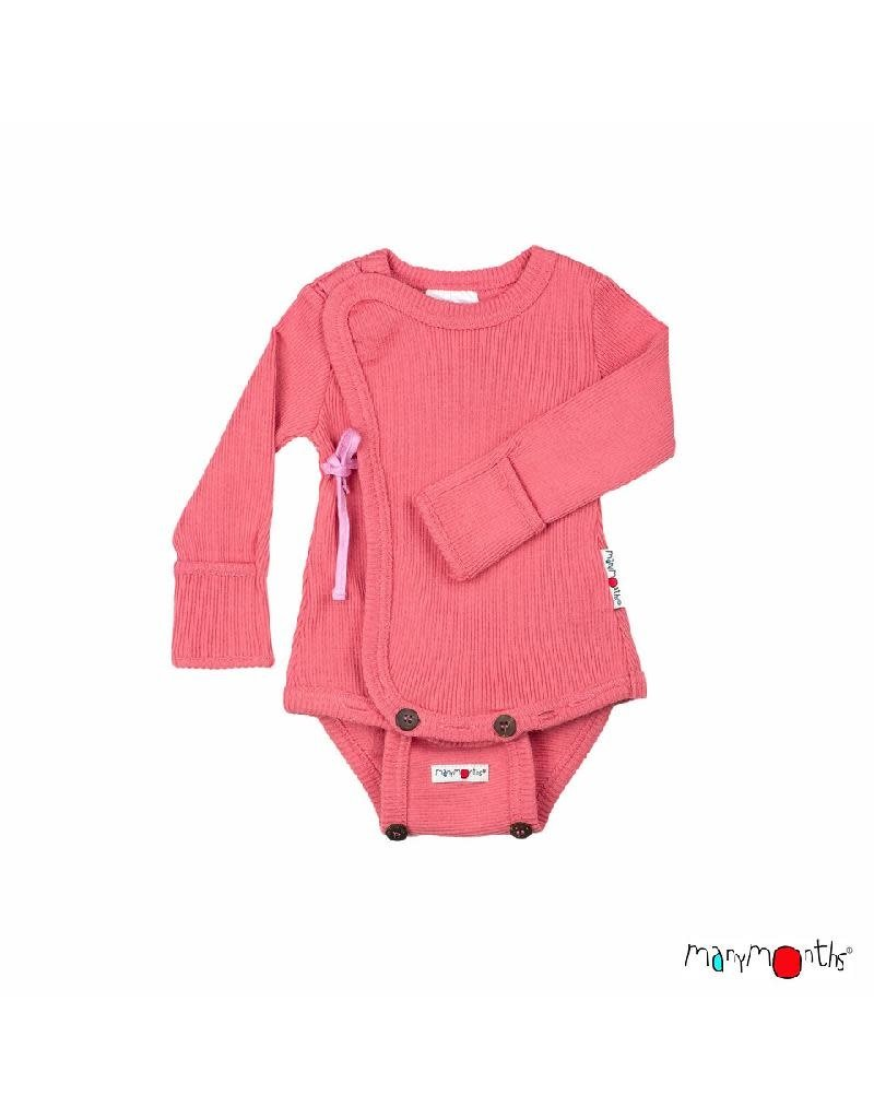 ManyMonths ManyMonths - Kimono Body/Shirt with Foldover Sleeves, Peach Bud (0-2j)