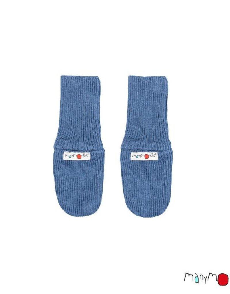 ManyMonths ManyMonths - Long Cuff Mittens, Cosmos Blue (0-2j)