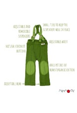 ManyMonths ManyMonths - Hazel Trousers with Suspenders, Cosmos Blue (0-2j)