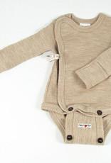 ManyMonths ManyMonths - Kimono Body/Shirt with Foldover Sleeves, Toasted Coconut (0-2j)