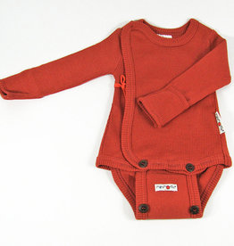 ManyMonths Kimonobody/-shirt, Rooibos Red (0-2j)