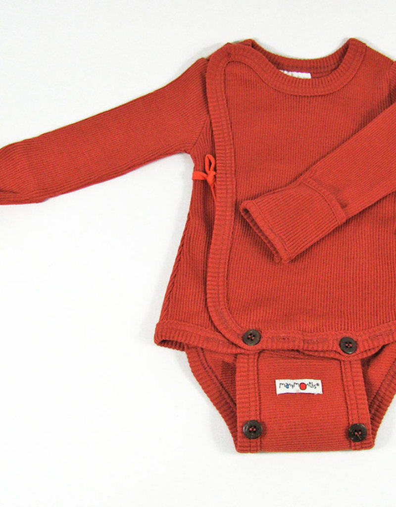 ManyMonths ManyMonths - Kimono Body/Shirt with Foldover Sleeves, Rooibos Red (0-2j)