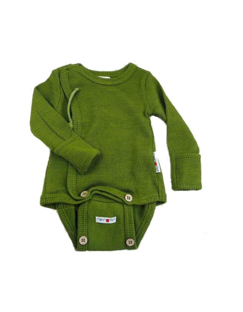 ManyMonths ManyMonths - Kimono Body/Shirt with Foldover Sleeves, Garden Moss Green (0-2j)