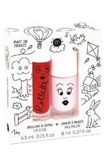 Nailmatic Nailmatic - cottage set (lipgloss kers + nagellak bella roze)