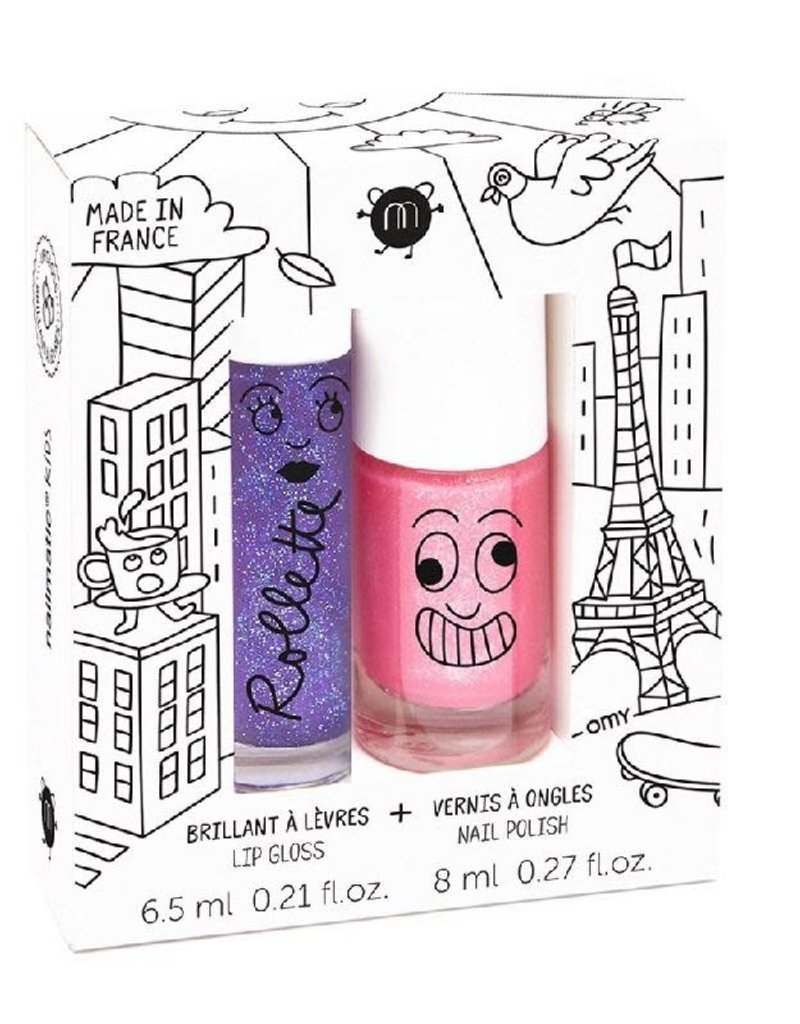 Nailmatic Nailmatic - lovely city set (lipgloss cassis + nagellak kitty roze)