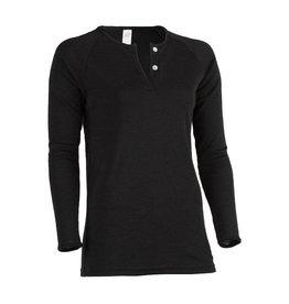 Engel Shirt met 2 knoopjes, zwart
