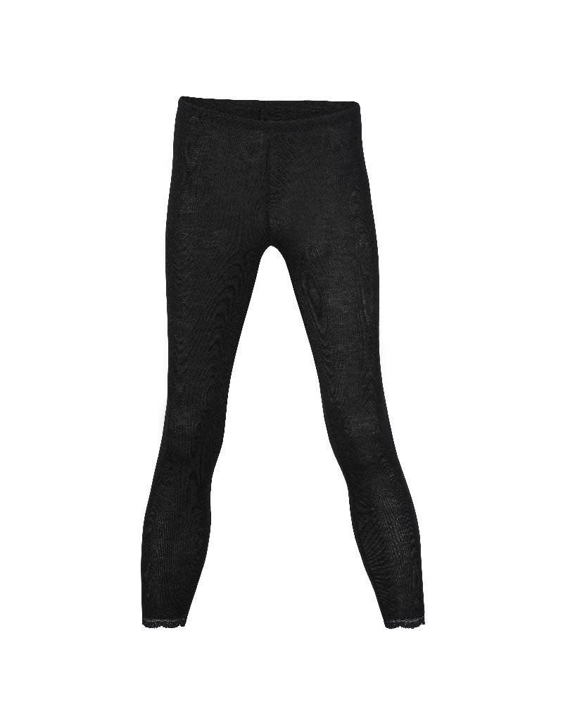 Engel Engel Woman - legging met kant, wol/zijde, zwart