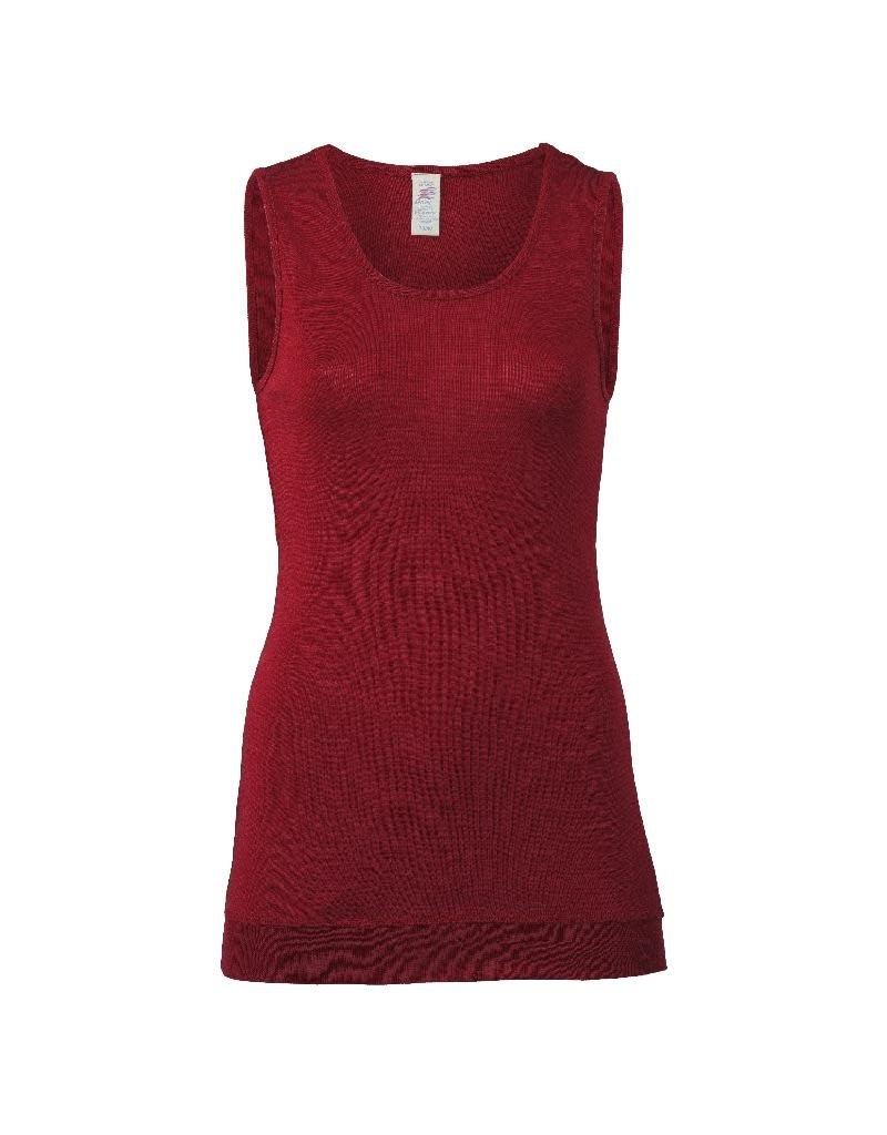 Engel Engel Woman - onderhemd, sl, lang, wol/zijde, mallow