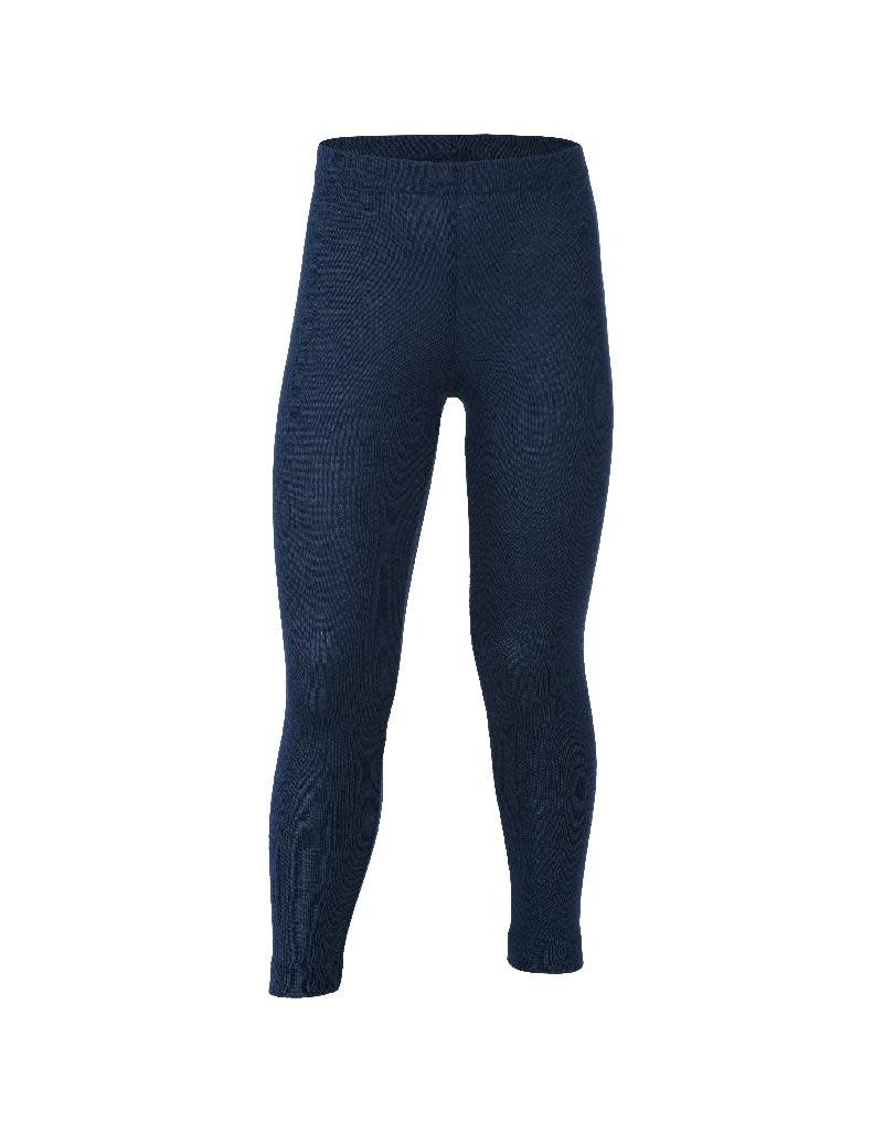 Engel Engel - Children's leggings, wool/silk, navy blue (3-16j)