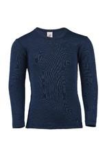 Engel Engel - onderhemd, ls, wol/zijde, navy (3-16j)