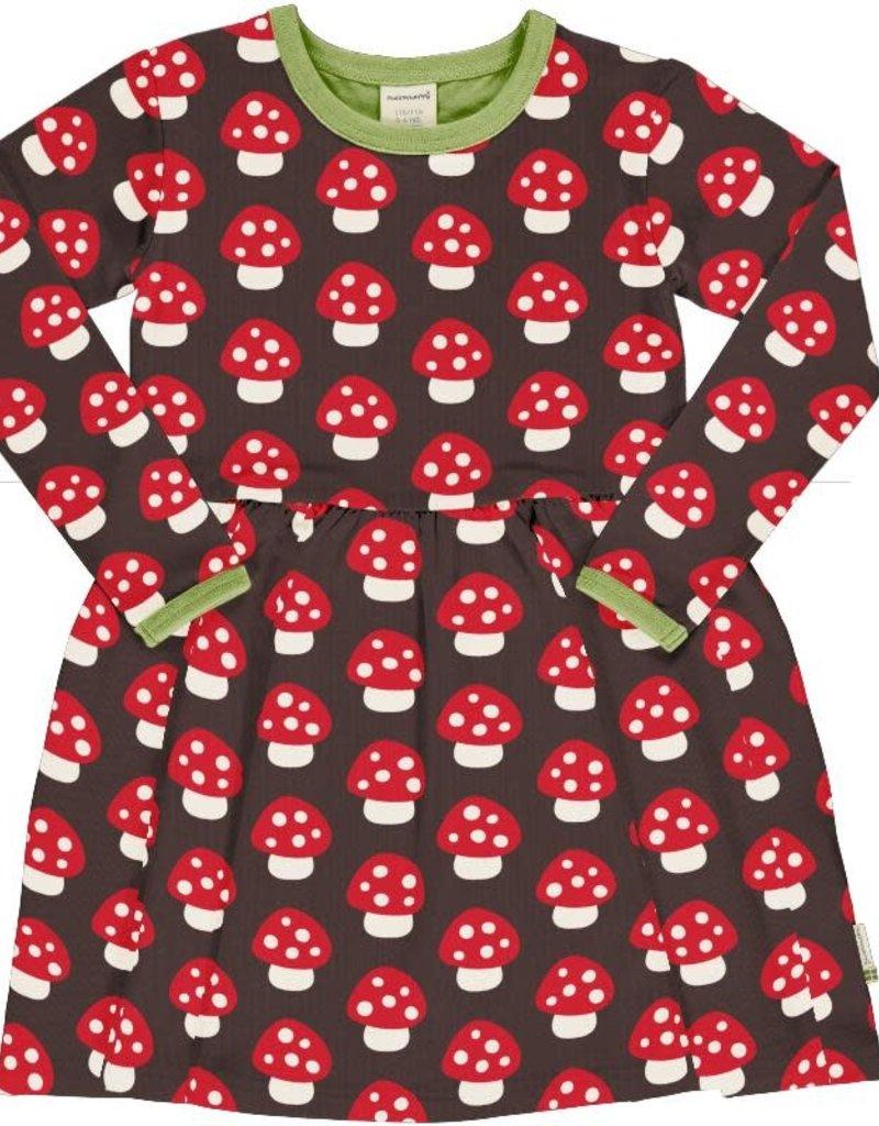 Maxomorra Maxomorra - dress spin ls mushroom (3-16j)