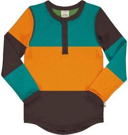 Maxomorra Shirt met knopen block lagoon (0-2j)