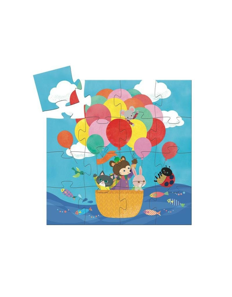 Djeco Djeco - puzzel, de heteluchtballon, 16 st