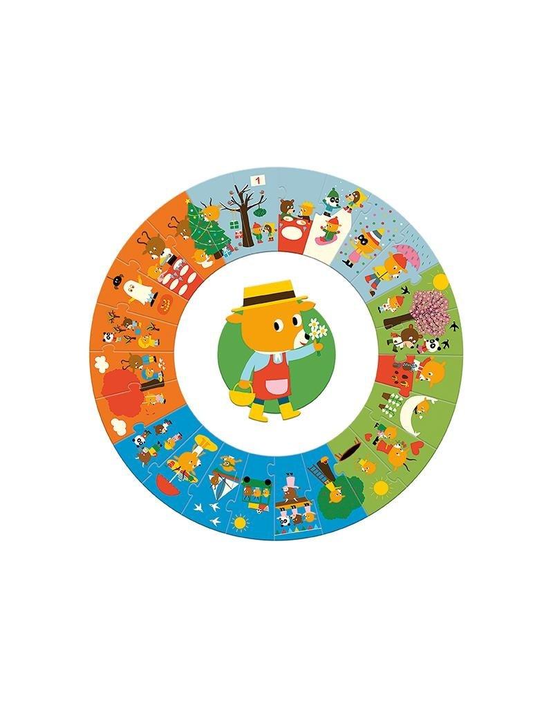Djeco Djeco - puzzel, giant, het jaar, 24 st