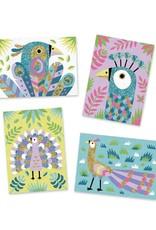 Djeco Djeco - kunst op nummer, zand en glitter, oogverblindende vogels