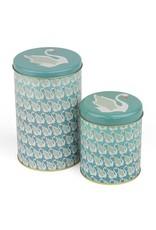 Froy & Dind Froy & Dind - box, cilindervormig, 2 st: 15 x 10 cm en 11 x 9 cm, swan