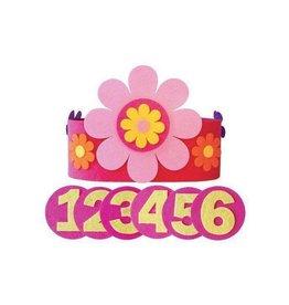 Global Affairs Verjaardagskroon, roze bloem