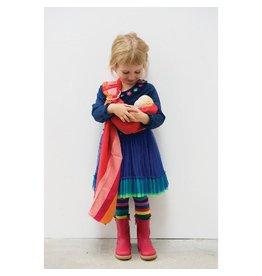 Hoppa Ringsling voor poppen, 3-kleurig