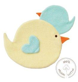 Peppa Knuffeldoekje, vogel, geel/blauw