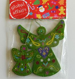 Global Affairs Engelvormige hanger, groen