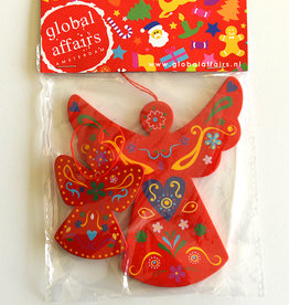 Global Affairs Engelvormige hanger, rood