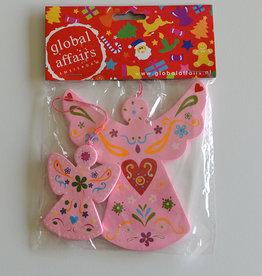 Global Affairs Engelvormige hanger, roze
