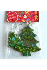 Global Affairs Global Affairs - houten hanger, kerstboom, groen, 2 stuks