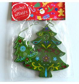 Global Affairs Kerstboomhanger, groen