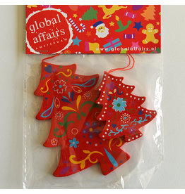 Global Affairs Kerstboomhanger, rood
