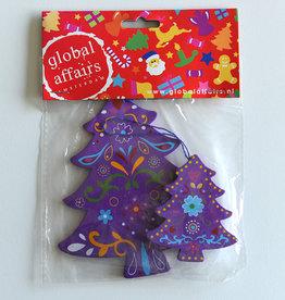 Global Affairs Kerstboomhanger, paars
