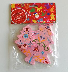 Global Affairs Kerstboomhanger, roze