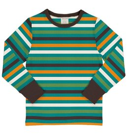 Maxomorra Shirt, stripe lagoon (0-2j)