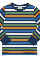 Maxomorra Maxomorra - top ls stripe navy (3-16j)