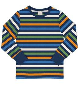 Maxomorra Shirt, stripe navy (3-16j)