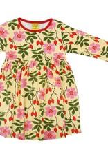 Duns Sweden Duns Sweden - Long Sleeve Dress w gather skirt, Rosehip Yellow (3-16j)