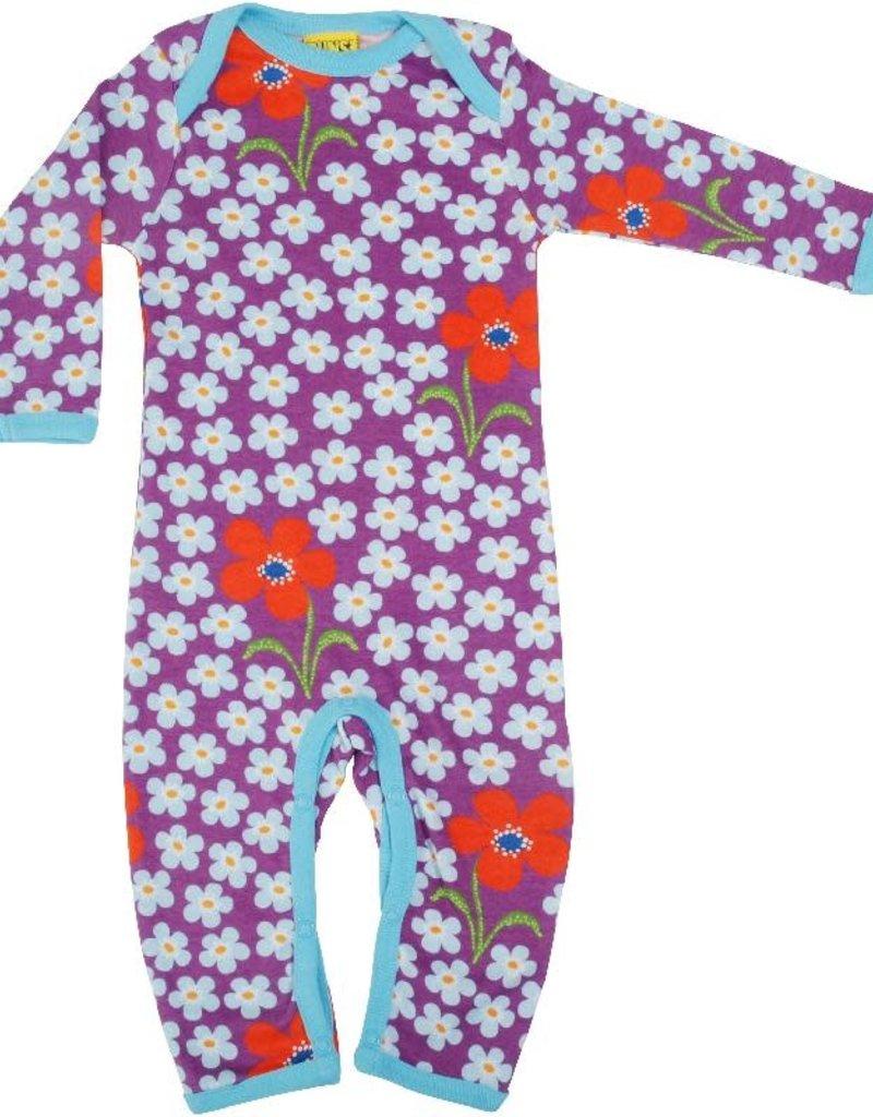 Duns Sweden Duns Sweden - Long Sleeve Lap neck Suit, Flower Amethyst (0-2j)