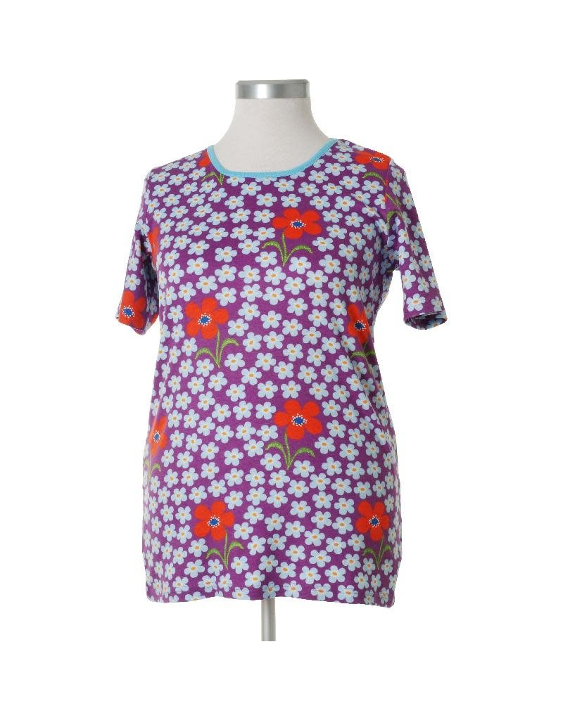 DUNS Sweden Duns Sweden Adult - Short Sleeve Top, Flower Amethyst