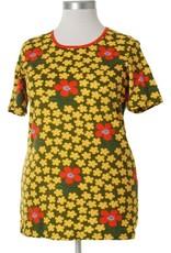 Duns Sweden Duns Sweden Adult - Short Sleeve Top, Flower Olive