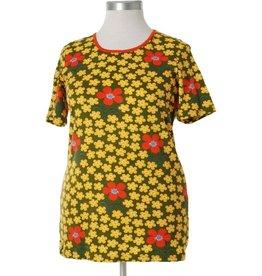 Duns Sweden T-shirt, Flower Olive
