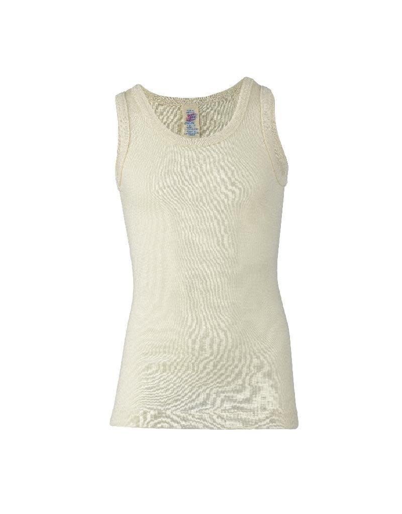 Engel Engel - onderhemd, sl, wol/zijde, natuur (3-16j)