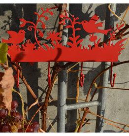 Global Affairs Kapstok, rood, vogels