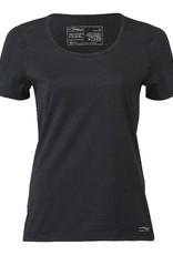 Engel Engel Woman Sports - T-shirt, regular fit, wol/zijde, zwart