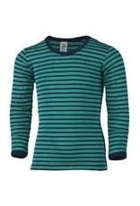 Engel Engel - onderhemd, ls, wol/zijde, navy/ijsblauw (3-16j)