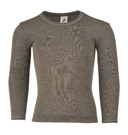 Engel Engel - onderhemd, ls, wol/zijde, walnoot (3-16j)