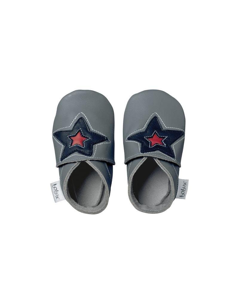 Bobux Bobux - soft sole, grey, astro star