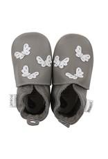 Bobux Bobux - soft sole, grey, butterflies